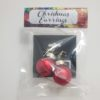 Small Red ball ornament earrings
