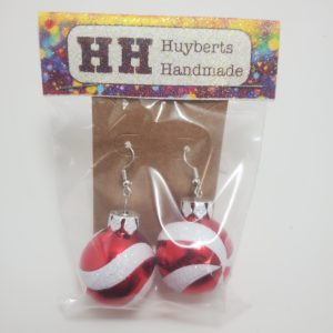 Peppermint Swirl Ornament Earrings