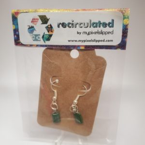 Green Capacitor Earrings