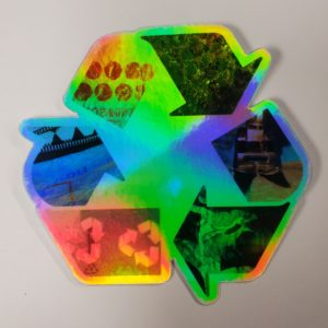 Holographic Recycle Art Sticker